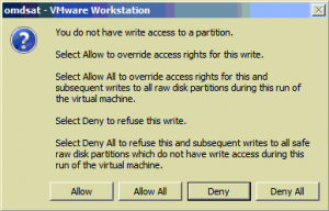 you-do-not-have-writeaccess-to-a-partition